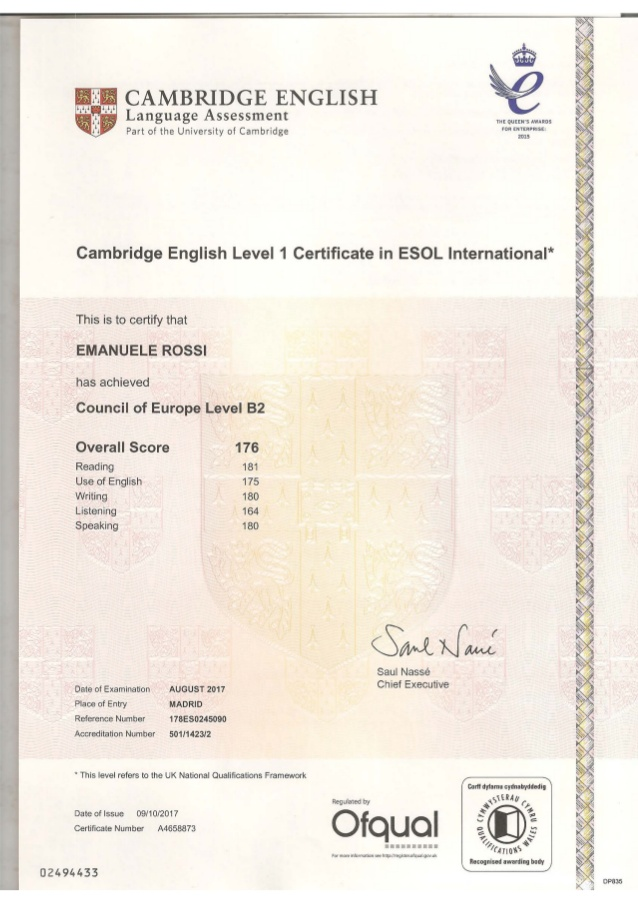 buy registered english certificates online